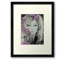 Flowers in her hair Framed Print