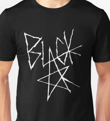 Soul eater - Black Star Signature (White) Unisex T-Shirt