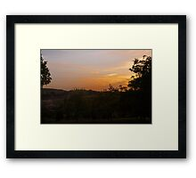 Sunset over the Dordogne Vally Framed Print