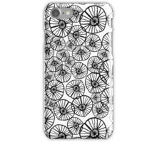 Lexi - squiggle modern black and white hand drawn pattern design pinwheels natural organic form abstract  iPhone Case/Skin