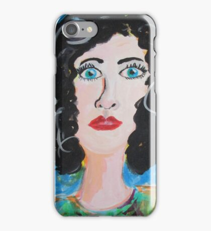 Miss Curly Top iPhone Case/Skin