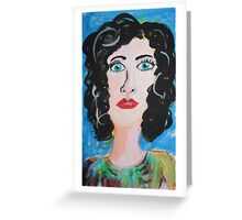 Miss Curly Top Greeting Card