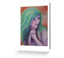 Holly Hunter in green Greeting Card
