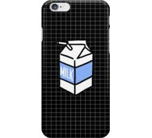 milk carton on black grid phone case iPhone Case/Skin