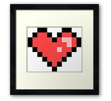 Pixel Heart Framed Print