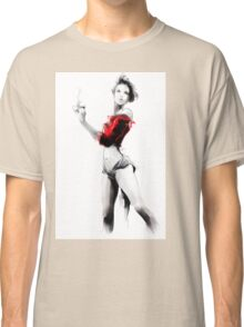 Beautiful woman holding a cup of coffee Classic T-Shirt