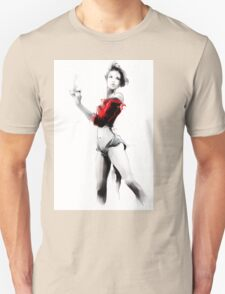 Beautiful woman holding a cup of coffee Unisex T-Shirt