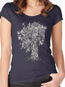 The Tree of the Strange the Fruit Women's Fitted Scoop T-Shirt