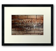 yankees suck Framed Print