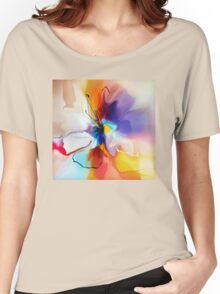 violet creative flower Women's Relaxed Fit T-Shirt
