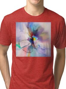 blue violet creative flower Tri-blend T-Shirt