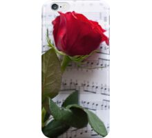 Rose on Notes iPhone Case/Skin