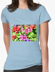 Floral Design 5 Light Womens Fitted T-Shirt