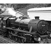Train black and white Photographic Print