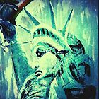 Lady Liberty Troubled By Oil Spill Disaster by Joyce MacPhee