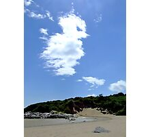 Beach with Clouds Photographic Print