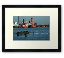 On The Waterline Framed Print