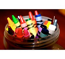 Crayons 1 Photographic Print