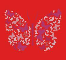 Pretty Pink Butterfly Kids Tee