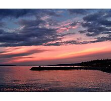 Pink Sunset over Puget Sound Photographic Print