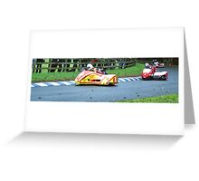 Side car race Greeting Card