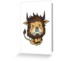 Red Feral Druid Greeting Card