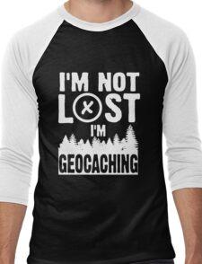 I'm not lost, I'm geocaching Men's Baseball ¾ T-Shirt