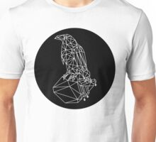 Low Poly Raven with A Bleeding Heart Unisex T-Shirt