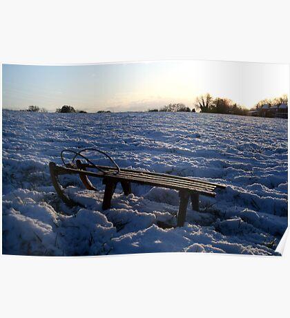 winter sledging Poster