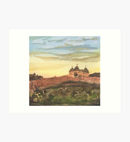 Chateau Elan - Vineyard Landscape  Art Print