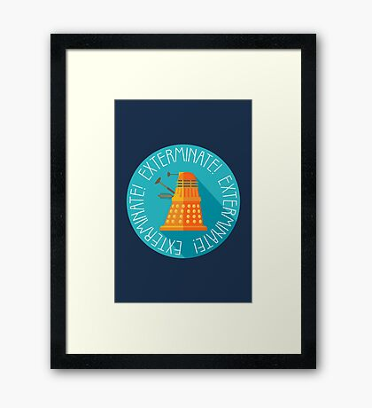 Doctor Who Dalek Exterminate! Framed Print