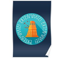 Doctor Who Dalek Exterminate! Poster