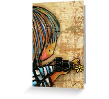 smile baby macro photography Greeting Card