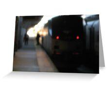 North Station Northeastern Amtrak Regional Greeting Card