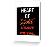 Heart Of Heavy Metal Greeting Card