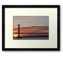 Sunset over the Firth of Forth - Road Bridge Framed Print
