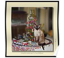cat calendar #12 Honey for Christmas  Poster