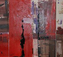 Triptych In Red by Christine Clarke
