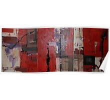 Triptych In Red Poster