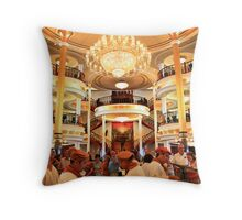 Time for lunch. Adventure of the Seas Cruise. Throw Pillow