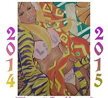 """New Orleans Artist """"Tigers Errthang"""" Poster by damon  milton"""
