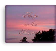 Hope for the cure Canvas Print
