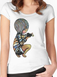 Smile baby macro photography Women's Fitted Scoop T-Shirt