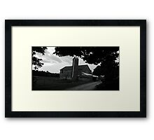 An old barn in black and white Framed Print