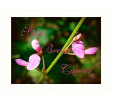 Stop Breast Cancer Art Print