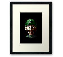 Luigi - Pictodotz Framed Print