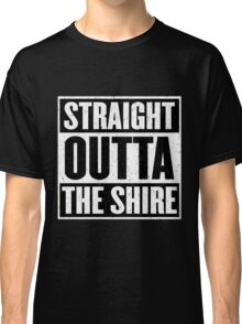 Straight Outta The Shire - Movie Mashup - Hobbit Homeboys - Nerd Humor - Hobbits Classic T-Shirt