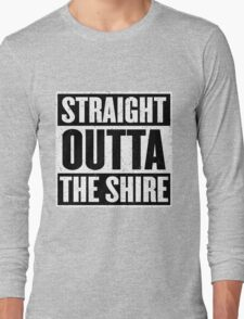 Straight Outta The Shire - Movie Mashup - Hobbit Homeboys - Nerd Humor - Hobbits Long Sleeve T-Shirt