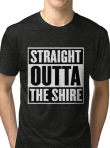 Straight Outta The Shire - Movie Mashup - Hobbit Homeboys - Nerd Humor - Hobbits Tri-blend T-Shirt