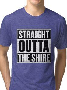 Straight Outta The Shire - Movie Mashup - Hobbit Homeboys - Nerd Humor - Hobbits Tri-blend T-Shirt